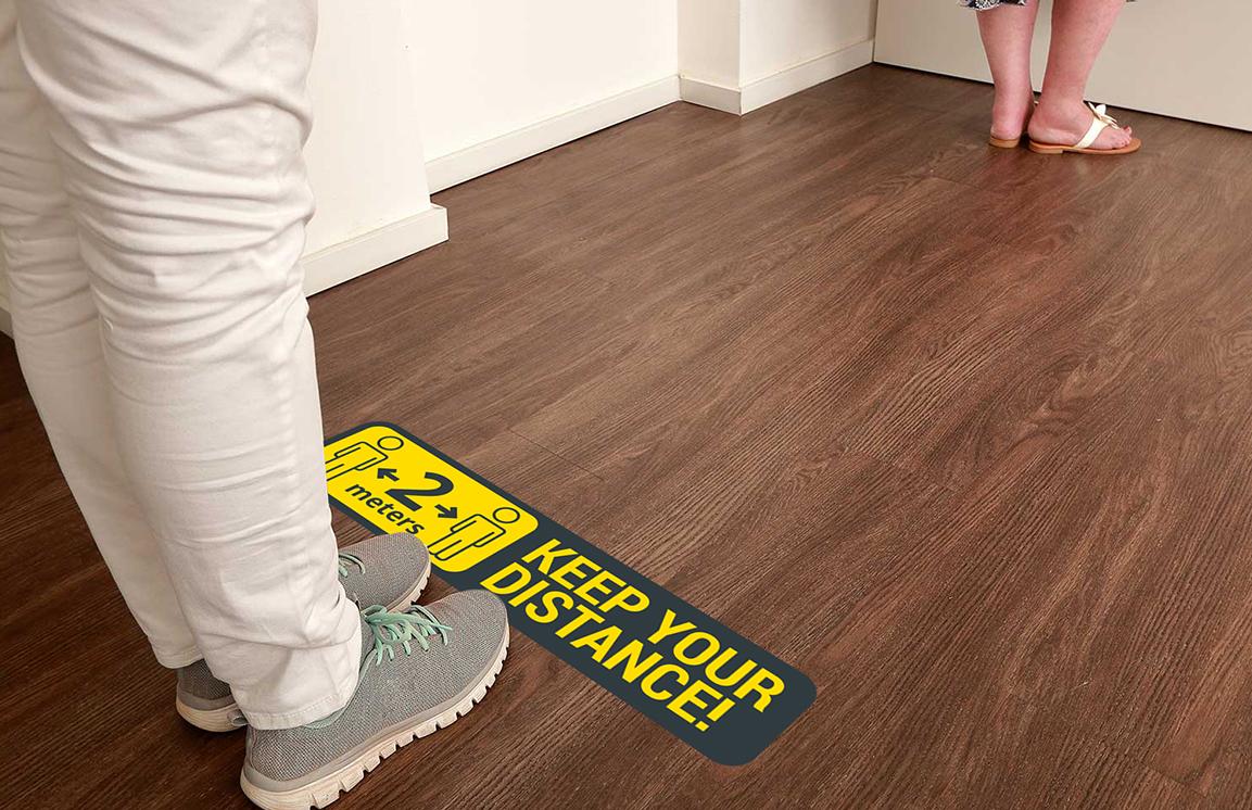 Floorminders | Shop navigation, social distancing reminder or advertisement